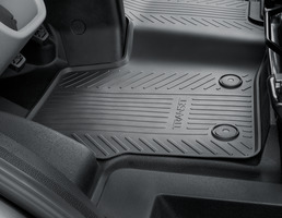 Rubber Floor Mats front, black, manual transmission