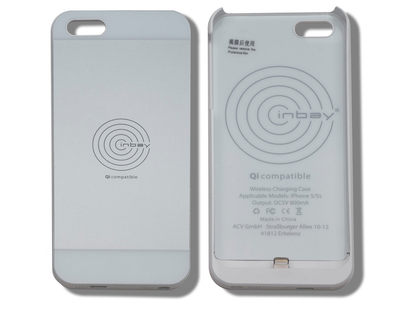 ACV* Qi Charging Case for IPhone® 5/5S, white