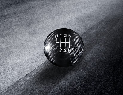 Performance Shift Knob made from carbon fibre