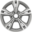 "Alloy Wheel 16"" 5 x 2-spoke design, arctic grey machined"