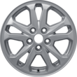 "Alloy Wheel 16"" 5 x 2-spoke design, Sparkle Silver"