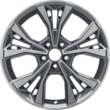 "Alloy Wheel 18"" 5 x 2-spoke design, tarnish dark machined"