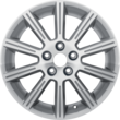 "Alloy Wheel 17"" 10-spoke design, silver"