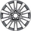 "Alloy Wheel 17"" 10-spoke design, Silver Machined"